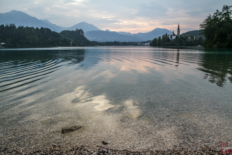 Best view of Lake Bled - Bled camping beach