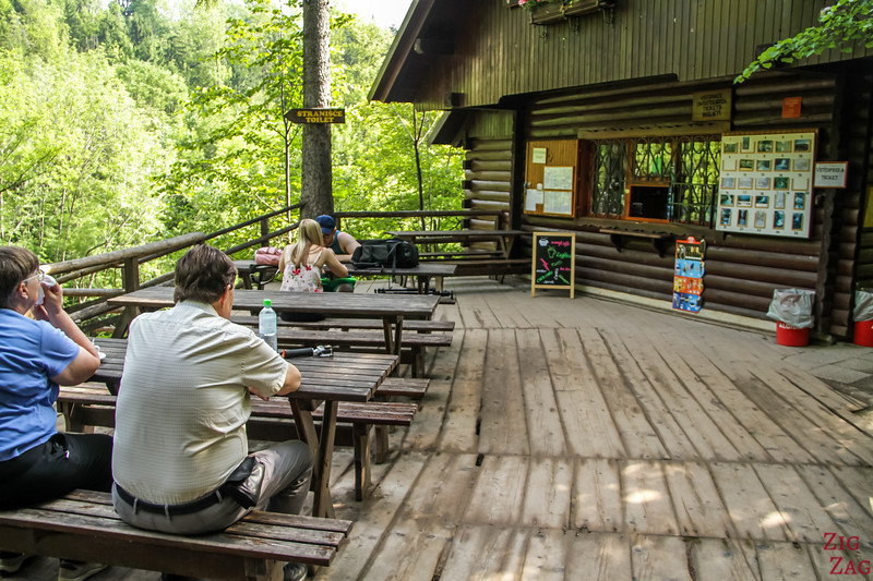 Vintgar Gorge end cafe hut