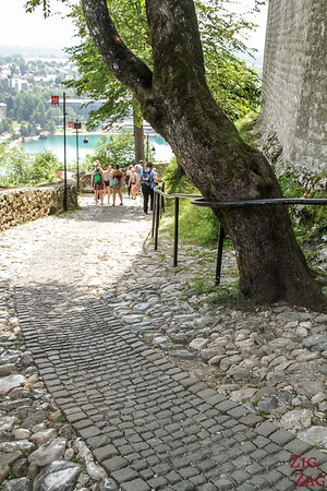 Slovenia Lake Bled Castle entrance 2