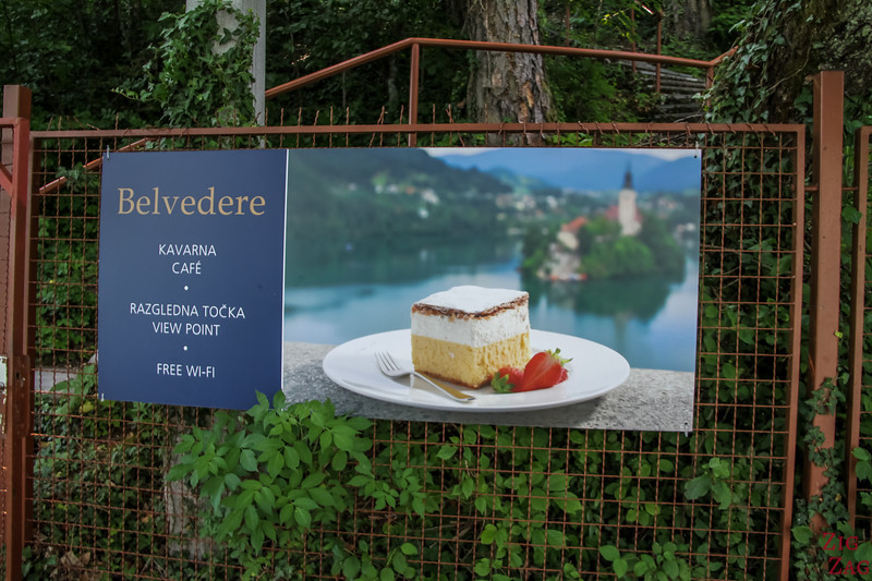 Lake bled cream cake