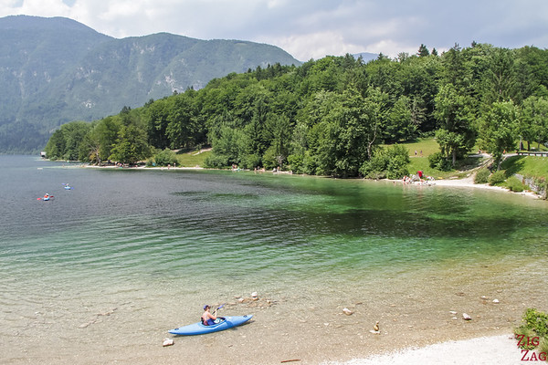 Kayak at Lake Bohinj Slovenia 2