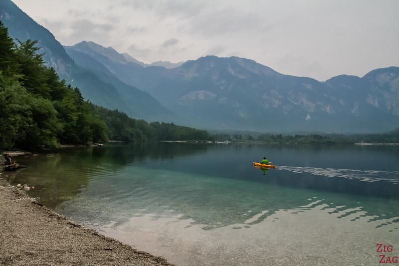 Kajak on Lake Bohinj