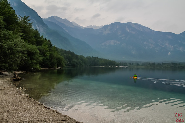 Kayak at Lake Bohinj Slovenia