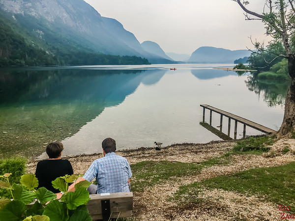 Ukanc viewpoint  Lake Bohinj Slovenia