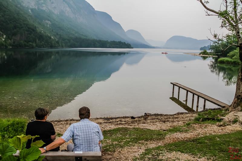Ukanc viewpoint  Lake Bohinj Slovenia