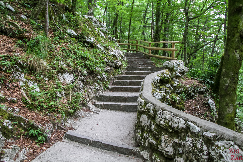 Stairs slap Savica Waterfall Slovenia