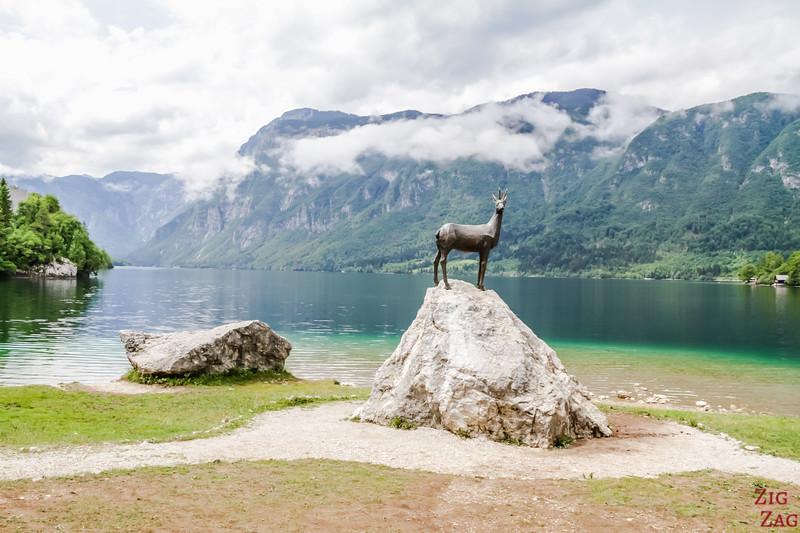 Golden Horn Statue Lake Bohinj Slovenia