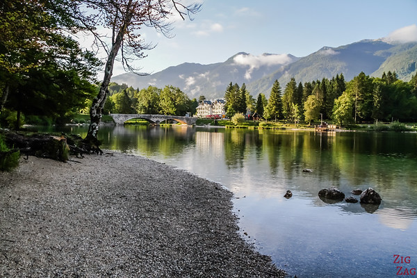 Walking Lake Bohinj Slovenia