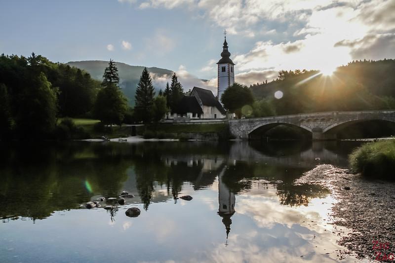 Sunrise at Lake Bohinj Slovenia