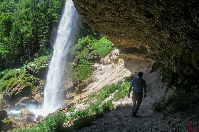 Slap Pericnik Waterfall Walk behind waterfall slovenia 5