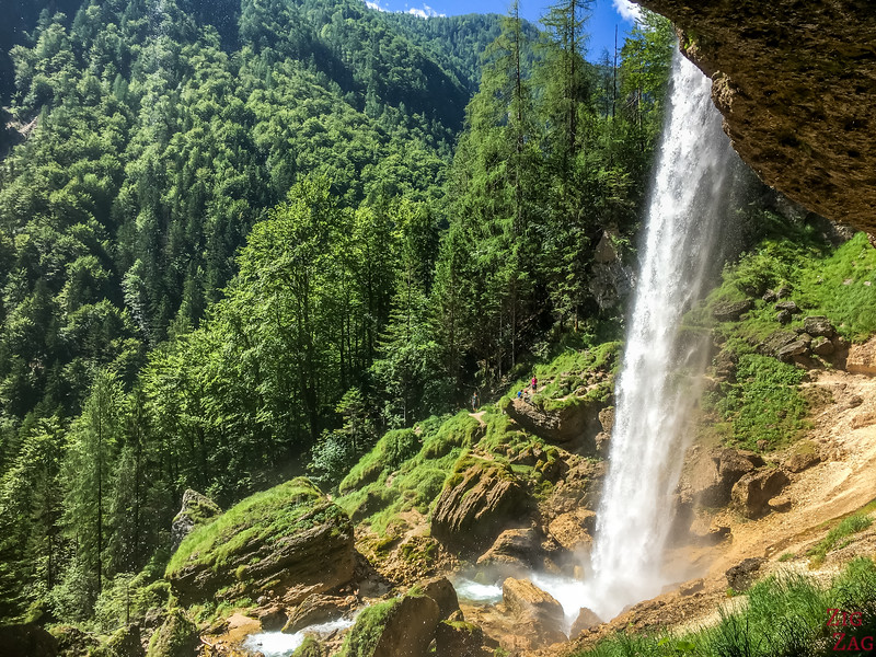 Slap Pericnik Waterfall Walk behind waterfall slovenia 3