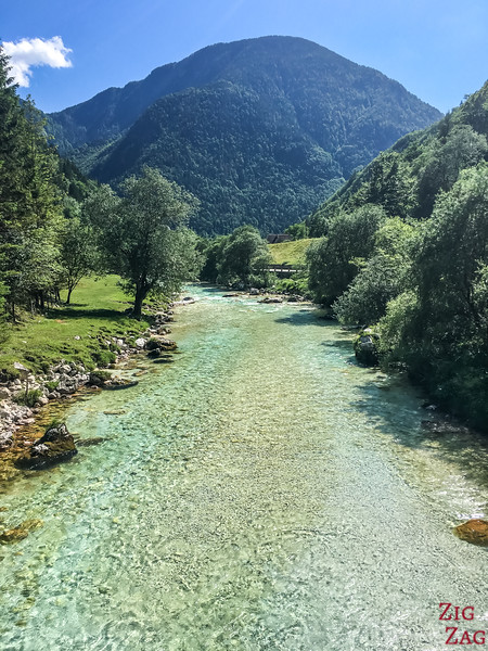 Emerald River color Soca River Slovenia