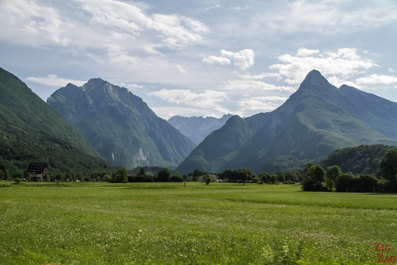 view from Town of Bovec