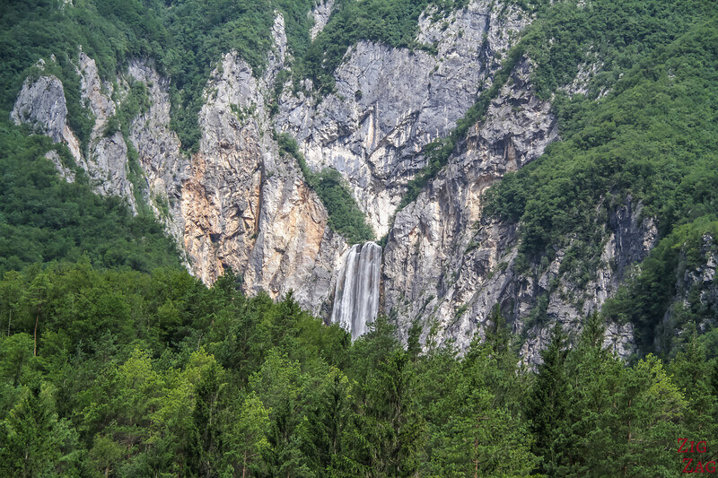 Slap Boka Waterfall Slovenia - View from road