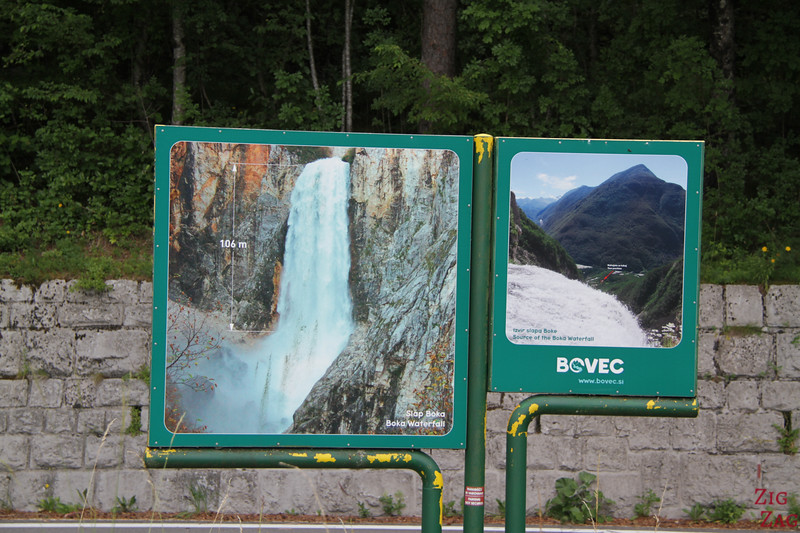 Slap Boka Waterfall Slovenia - height