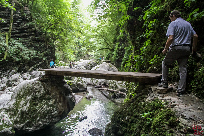 Slap Kozjak Waterfall hike bridges 3