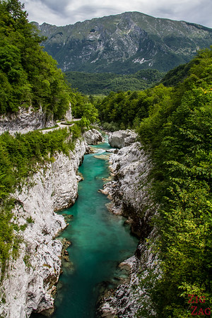 Napoleon bridge Soca River Slovenia