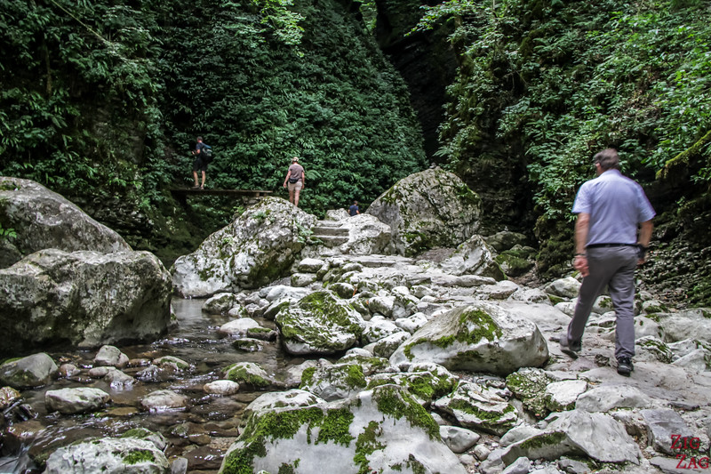 Slap Kozjak Waterfall hike bridges 2