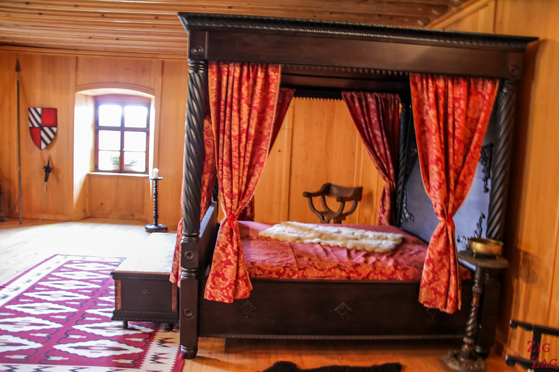 Slovenia Predjama Castle inside - bedrooms 3