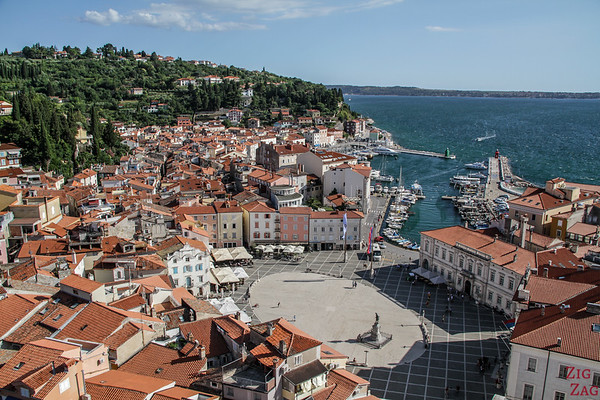 what to see in Piran - Bell tower view