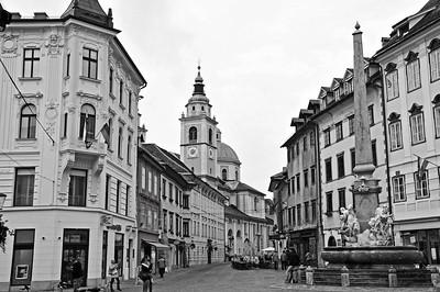 Old town of Ljubljana