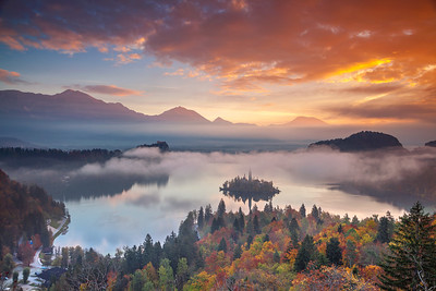 Lake Bled in Autumn.