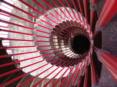 staircase down from the tower in Ljubljana castle