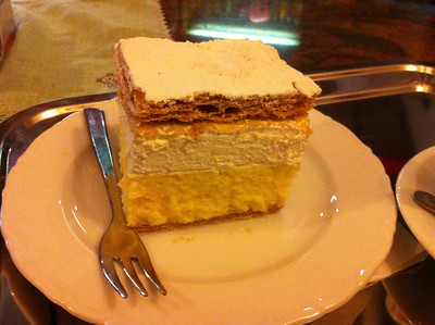 Cream cake in Bled...mmmmhhh!