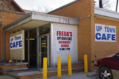 In case you were wondering, this is Freda's Uptown Cafe, on Jackson in Marshfield, Missouri - old Route 66.