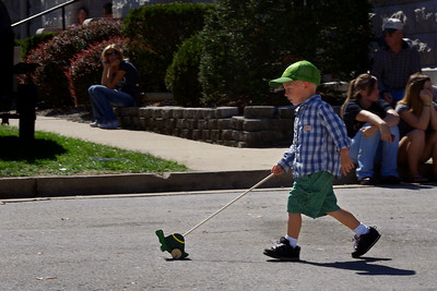 Lil' tyke with a racin' turtle. Apple Butter Makin, Days, Mount Vernon, MO. Fall 2010.
