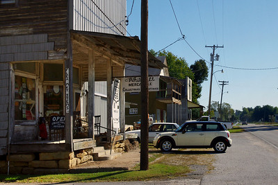 First stop - the Whitehall Mercantile in Halltown, Mo.   Built about 1900 and formerly housing a general store and post office on the ground floor, and above, a meeting hall for the I.O.O.F. Lodge. Presently functioning as an above-average flea market.    http://whitehallmercantile.com