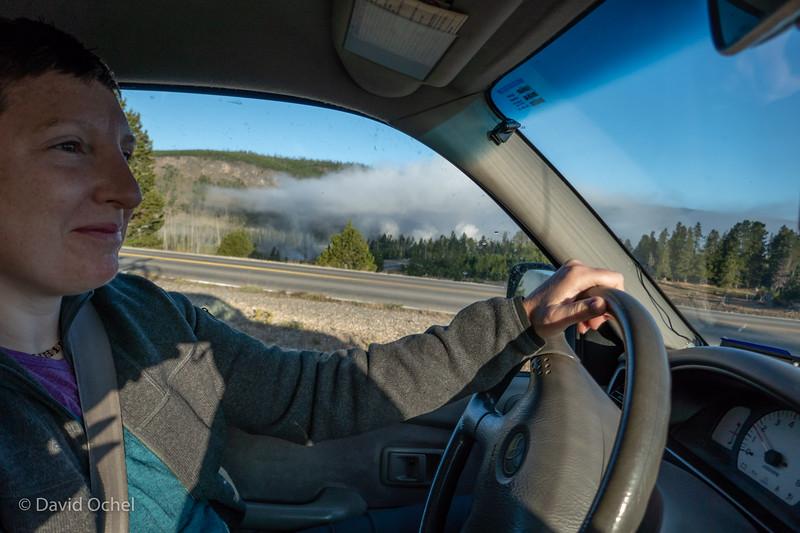 Driving through Yellowstone...