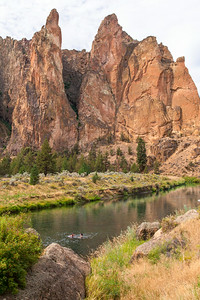Swimming in Smith Rock Canyon