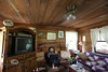 The Living Room in the Cabin of the Smoakhouse Ranch - Photo by Pat Bonish