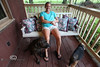 Chillaxing on the Front porch of the Earl Cabin - Smoakhouse Ranch - Photo by Pat Bonish