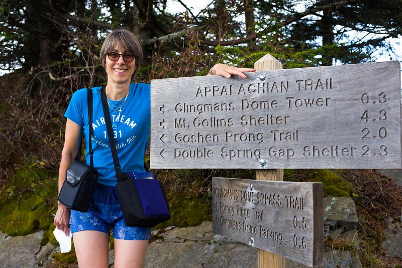 Appalachian trail signs