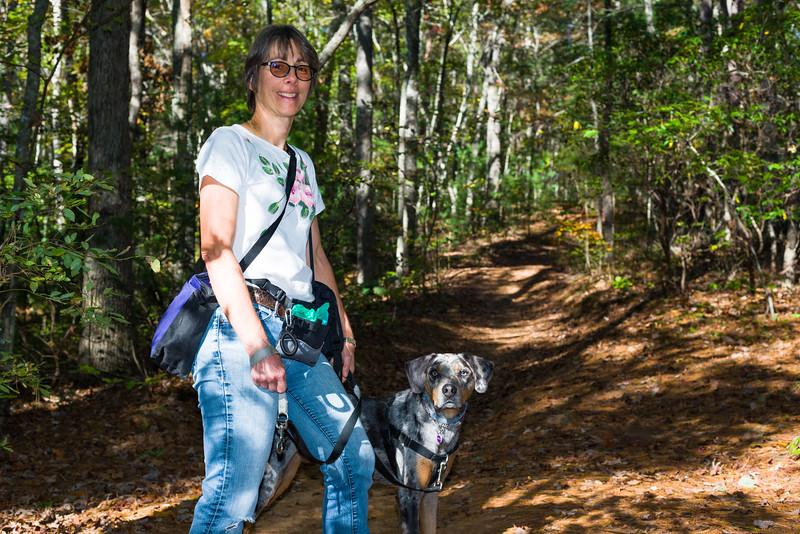 Hiking in Lake Powhatan SP