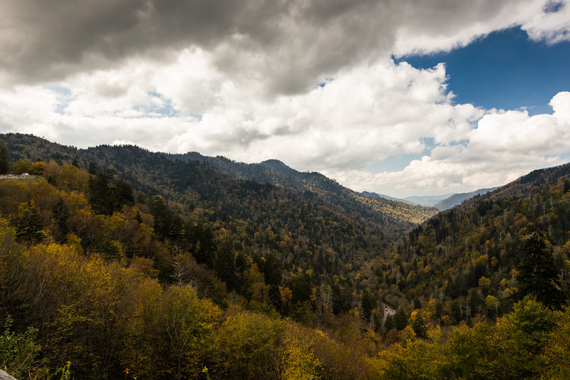 Fall colors and clouds