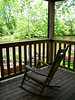 Rocking chair on the front porch.