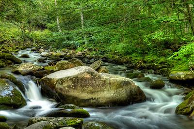 A little stream along the parkway heading towards Cherokee NC.