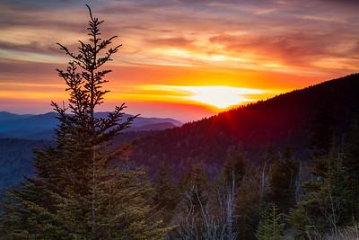 clingmans-sunset