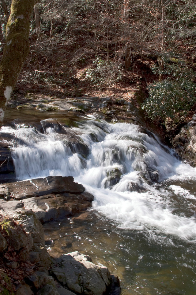 Waterfall, on road to Cades Cove