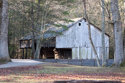 Cantilever barn, Cable Mill area, Cades Cove