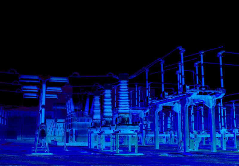 Electricity sub-station (processed)
