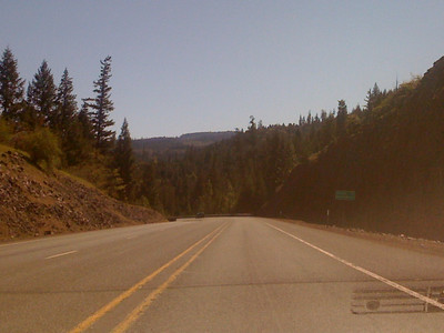 Started the day from Medford, OR - a clear sunny day, with temperatures in the 30's, heading to Crater Lake, OR