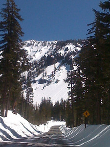 Highway 64 to Crater Lake, approaching from the West,