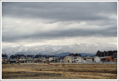 The Nikko mountains, taken from the train on the way home.