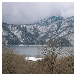 Lake Chuzenji, taken from the bus on the way home.