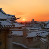 Snowy Sunrise in Bukchon :