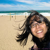 I thought it'd be an awesome idea to eat my Trader Joe's salad on the beach, but it was WAY TOO WINDY and COLD! Dangit!!